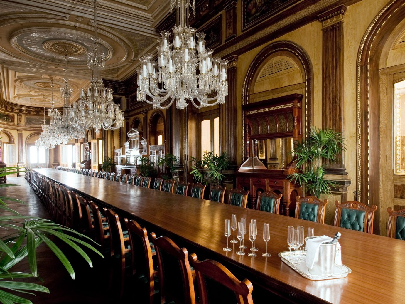 Design Dining Drink Eat Elegant Luxury Travel Tips indoor estate building Lobby palace mansion interior design function hall ballroom restaurant furniture several dining room