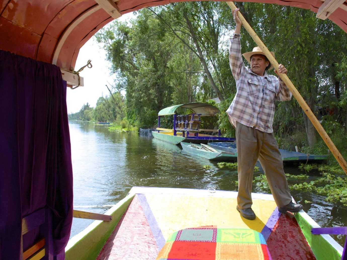 Boats calm City Greenery Lake local locals Mexico City Nature people remote River rowers Rowing serene trees Trip Ideas water outdoor leisure vacation swimming pool vehicle Boat