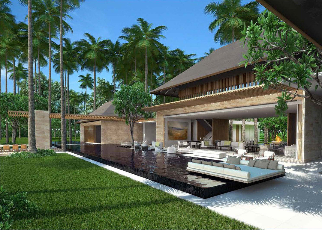 Celebs Hotels property house Architecture estate swimming pool real estate Resort Villa condominium home palm tree arecales leisure backyard facade outdoor structure hacienda landscaping