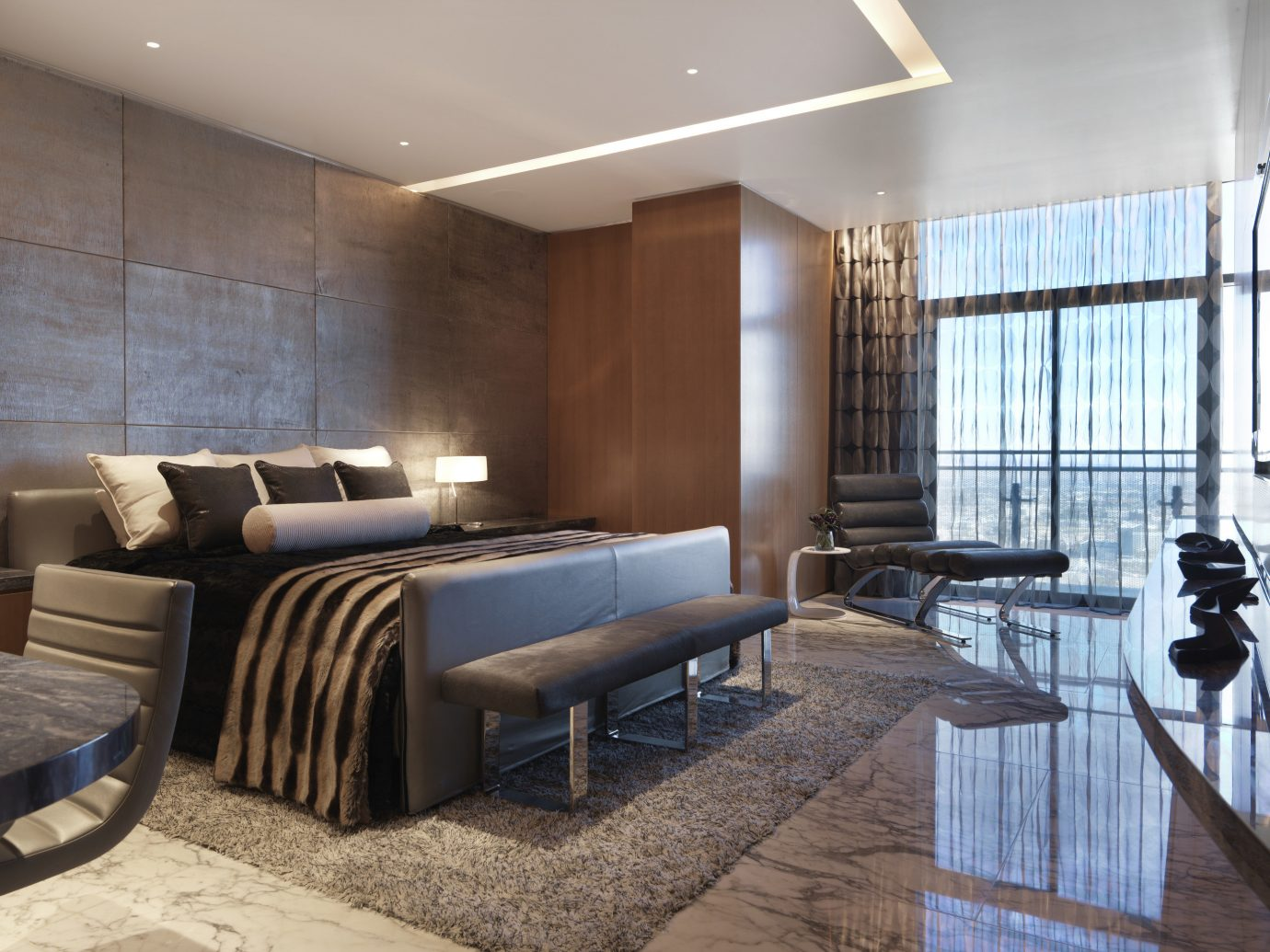 Bedroom in the Bentel & Bentel Penthouse Suites, The Cosmopolitan of Las Vegas