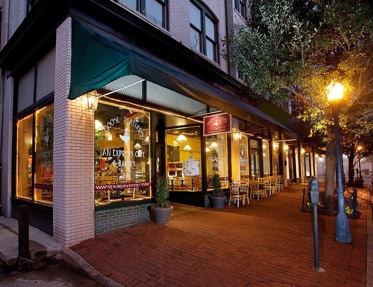 Boutique Hotels Food + Drink Girls Getaways Weekend Getaways building outdoor night Town lighting City evening window facade street way