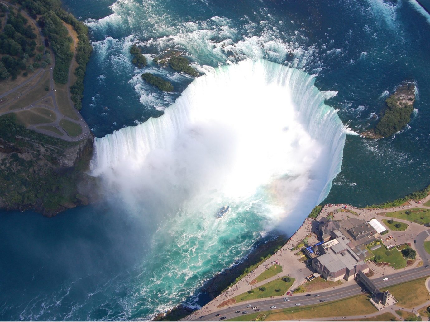 Aerial View of Niagara Falls, New York