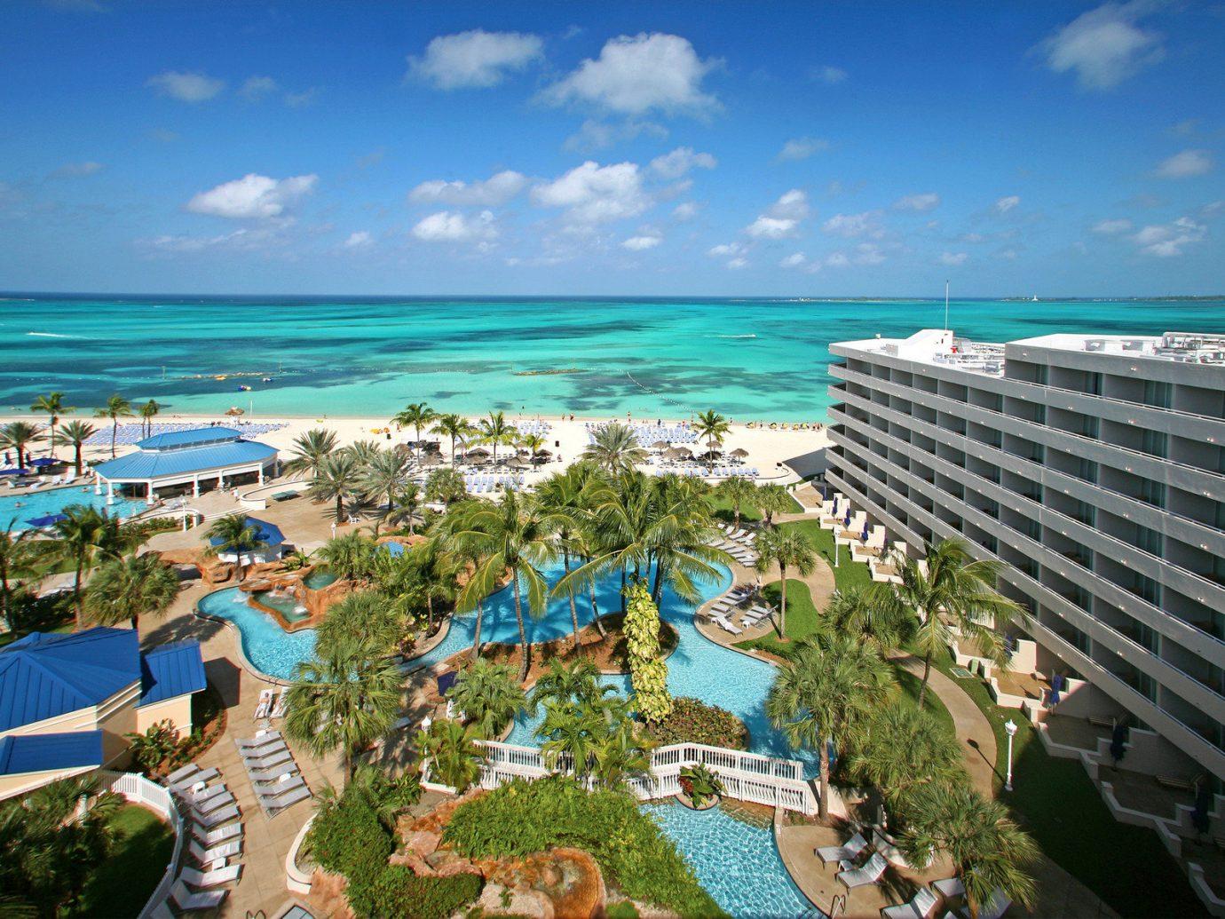 Aerial view of Meliá Nassau Beach