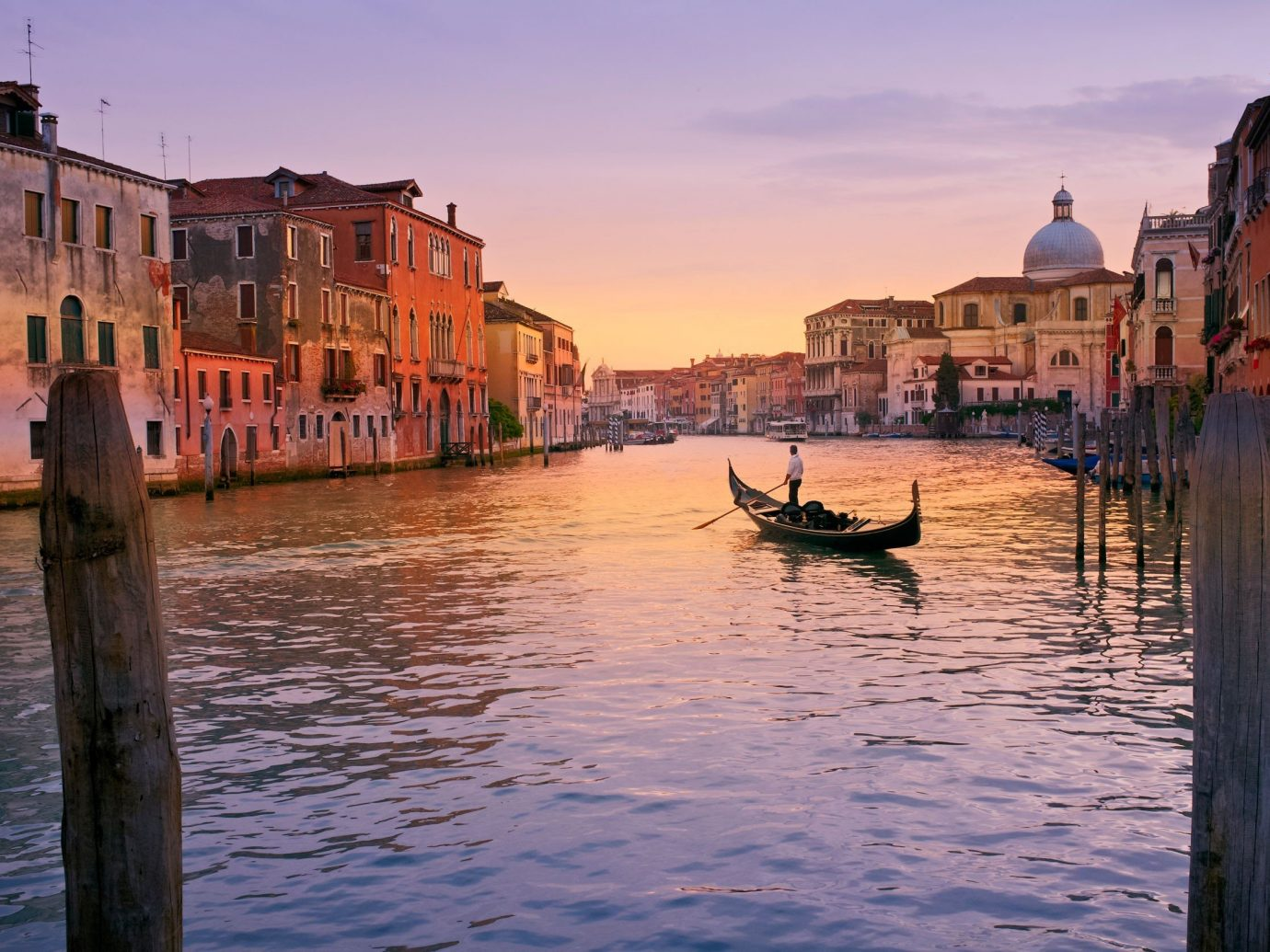 Trip Ideas outdoor sky water Boat geographical feature landform River reflection body of water Town vehicle Canal scene waterway Sea evening gondola morning Sunset channel dusk cityscape watercraft boating Harbor