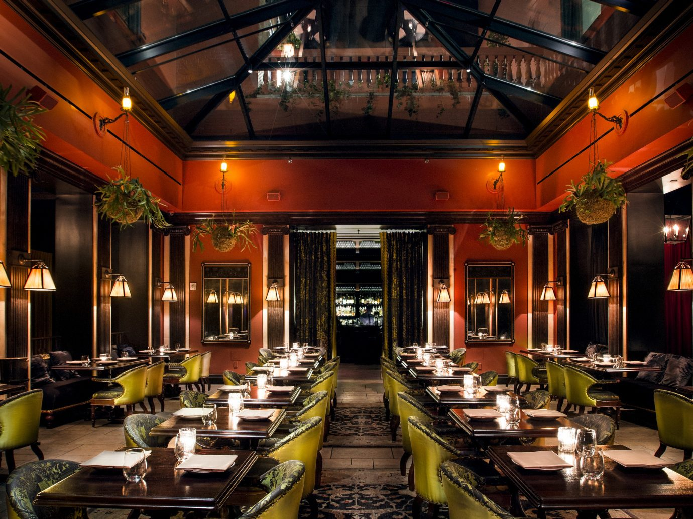 Arts + Culture Food + Drink Romance indoor building night meal restaurant interior design Lobby