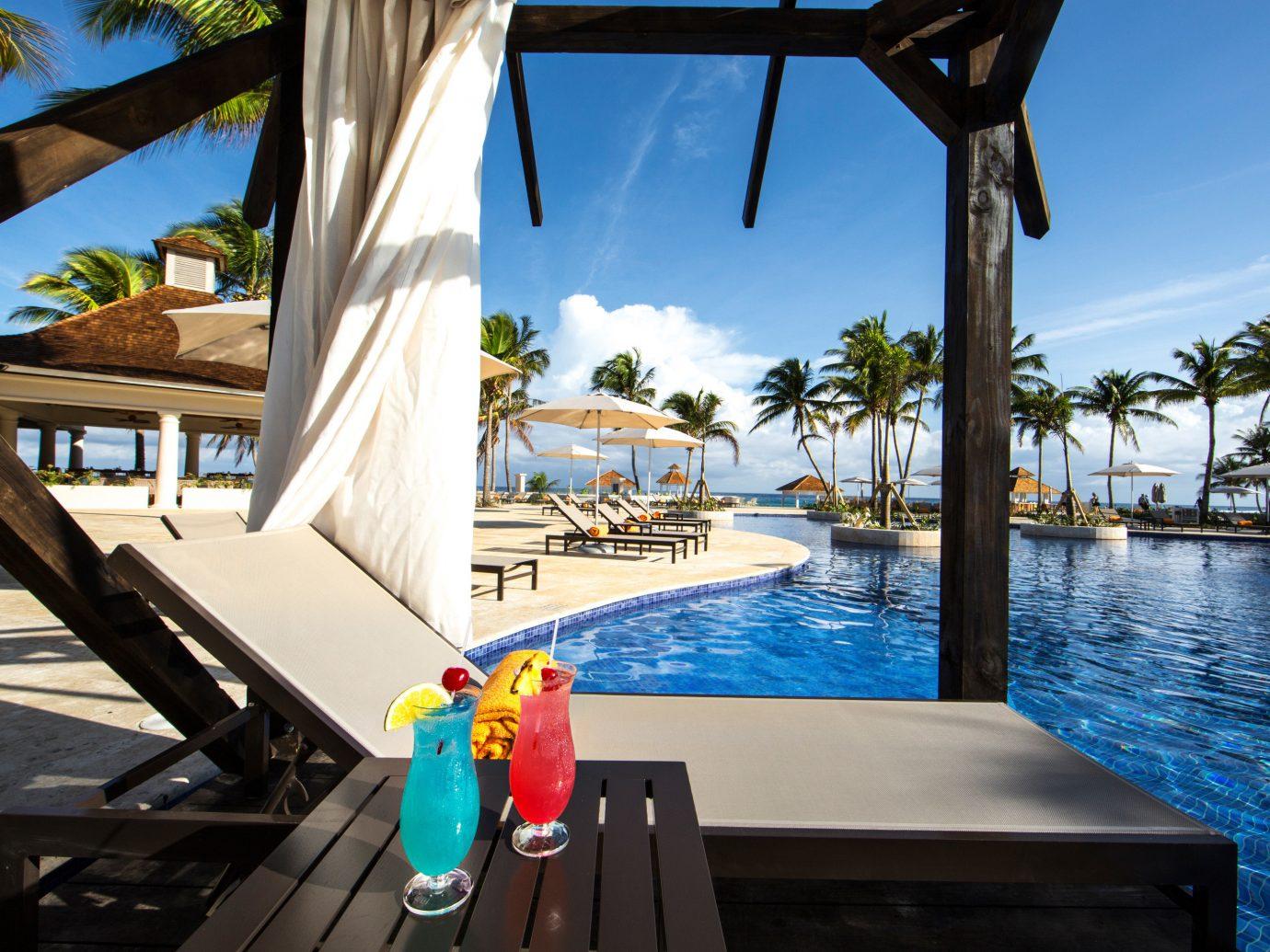 Hotels sky table leisure vacation Resort swimming pool Ocean estate caribbean wooden Sea Beach Villa overlooking