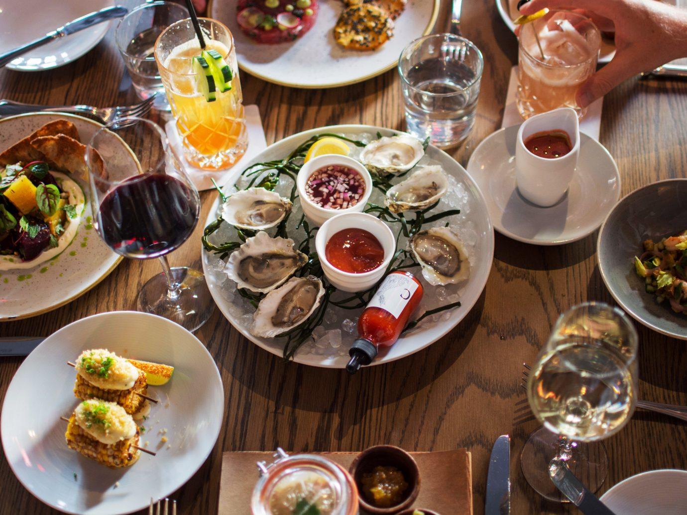 Bar Dining Drink Eat Food + Drink Hotels Luxury Trip Ideas plate table food meal dish lunch brunch dinner supper breakfast restaurant cuisine sense buffet set several