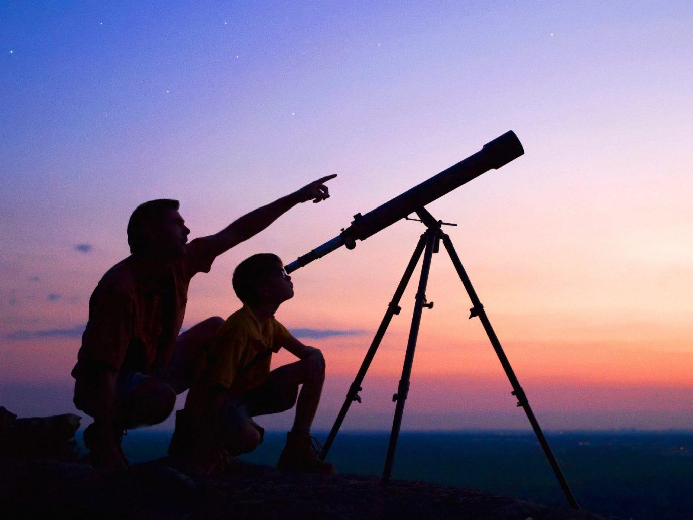 Budget sky outdoor telescope atmosphere of earth silhouette Sunset Sun Sea sunrise dusk distance