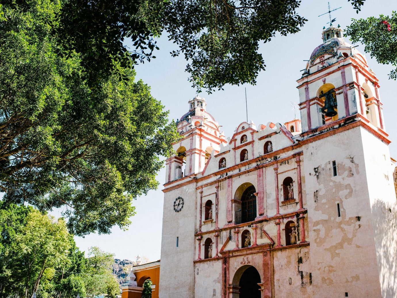 Arts + Culture Mexico Oaxaca Trip Ideas building sky historic site château tree tourist attraction palace facade monastery tourism hacienda medieval architecture place of worship estate City Church