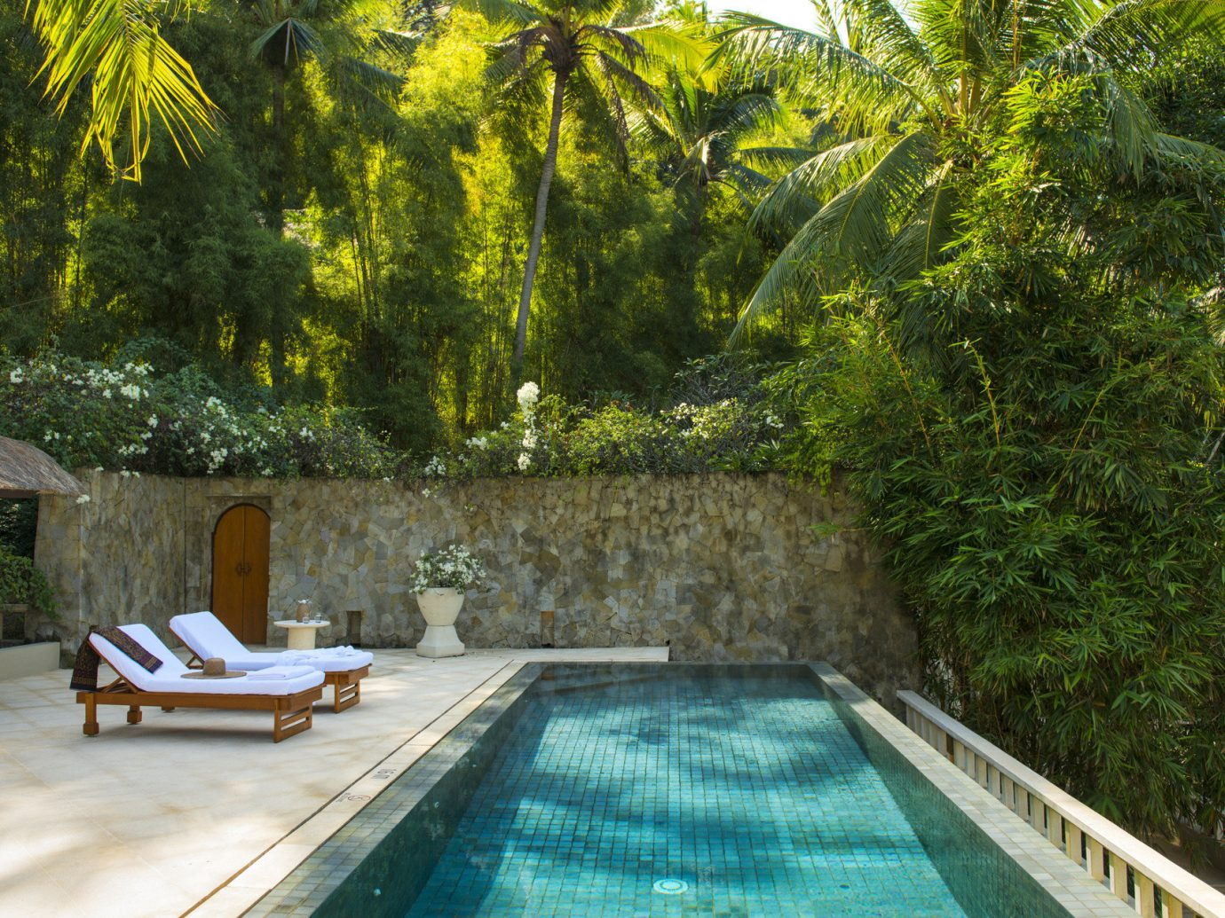News Trip Ideas tree outdoor swimming pool property backyard estate park Villa cottage plant wood stone wooded
