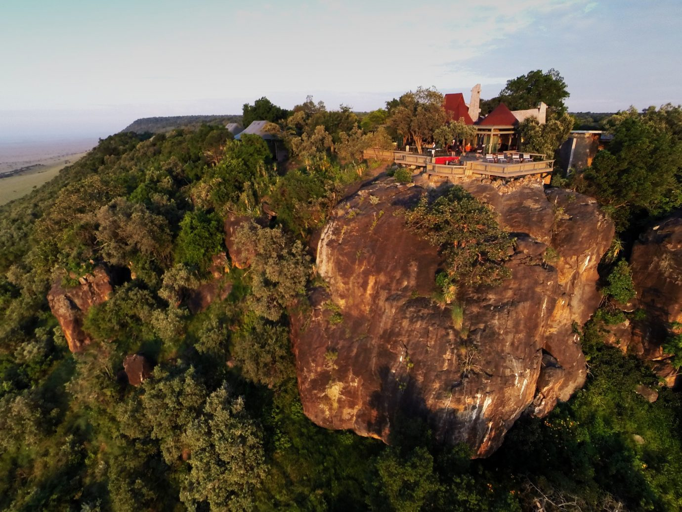 Hotels outdoor sky Nature tree cliff rock geological phenomenon Coast terrain aerial photography hill geology canyon hillside