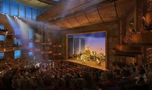 Jetsetter Guides indoor ceiling stage musical theatre screenshot audience auditorium crowd