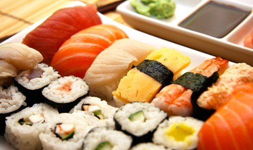 Food + Drink dish sushi food indoor cuisine gimbap meal asian food japanese cuisine california roll fish
