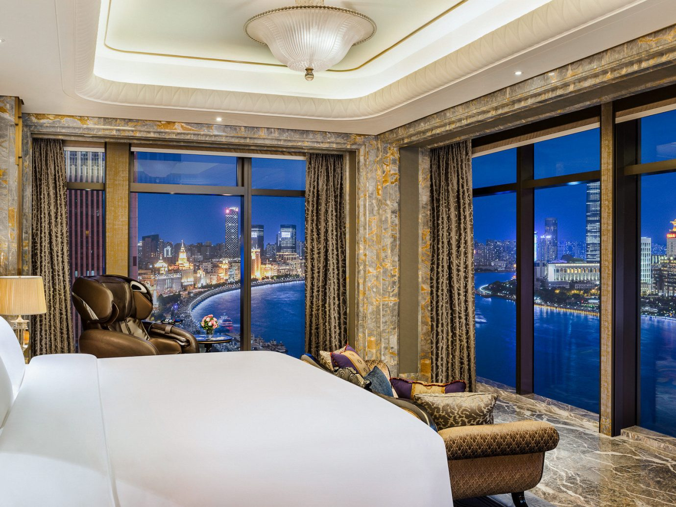 Boutique Hotels Luxury Travel indoor window room interior design real estate wall Suite estate scene home ceiling hotel penthouse apartment Bedroom apartment furniture overlooking