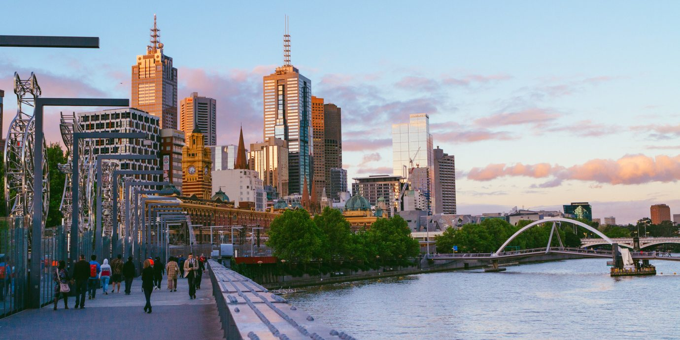 Australia Hotels Melbourne sky outdoor water metropolitan area skyline City geographical feature cityscape landmark urban area human settlement skyscraper Downtown horizon way River metropolis tourism evening dusk waterway tower block