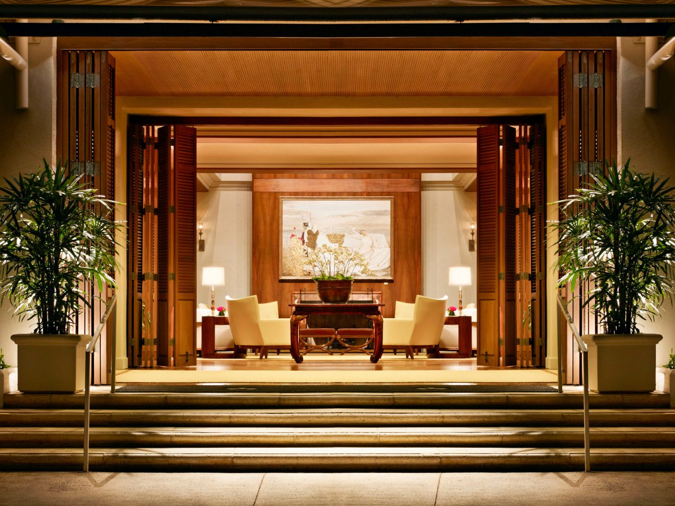 Boutique Hotels Design Hawaii Honolulu Hotels Lounge Luxury Resort indoor Lobby window home Architecture interior design estate lighting living room hall mansion furniture