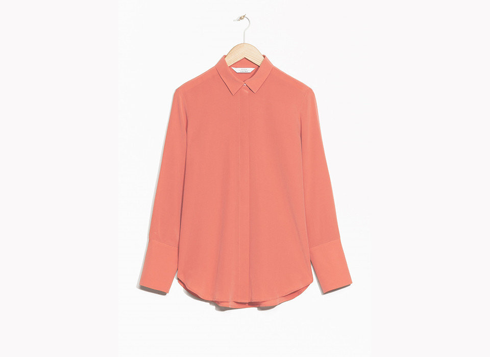 Style + Design Travel Shop clothing pink collar sleeve shoulder peach blouse neck button clothes hanger shirt