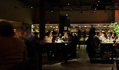 Food + Drink indoor ceiling person floor people group Bar restaurant