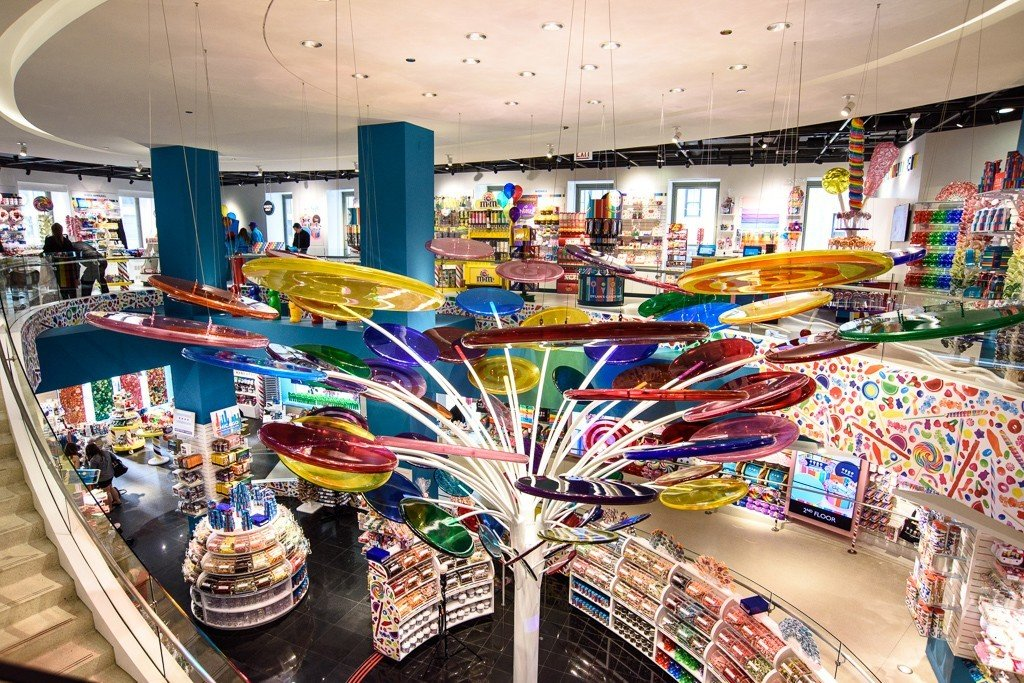 Offbeat indoor ceiling retail shopping mall City marketplace supermarket infrastructure shopping store cluttered Shop