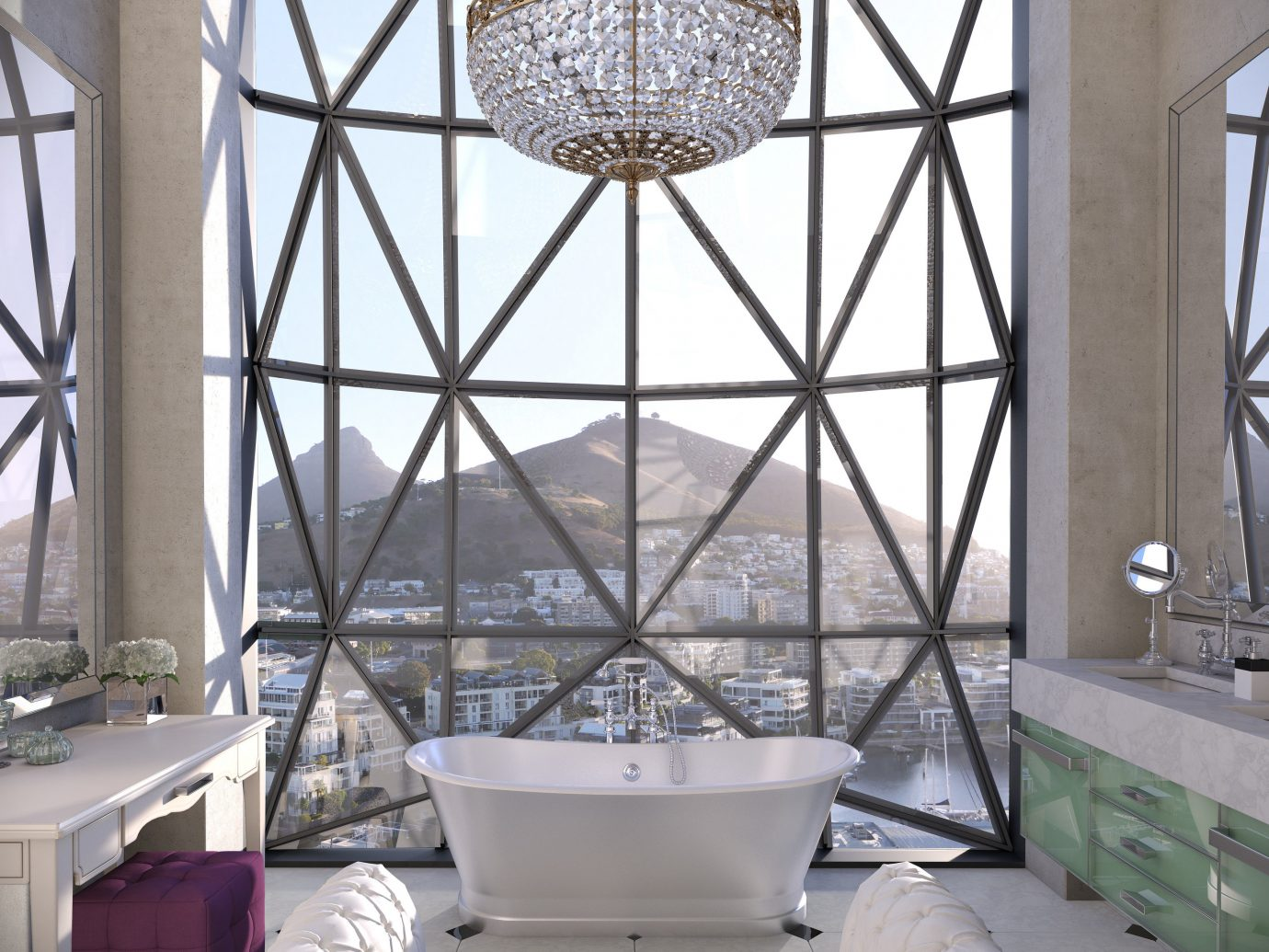 Trip Ideas indoor room daylighting lighting interior design ceiling Design furniture estate living room glass window decorated tiled