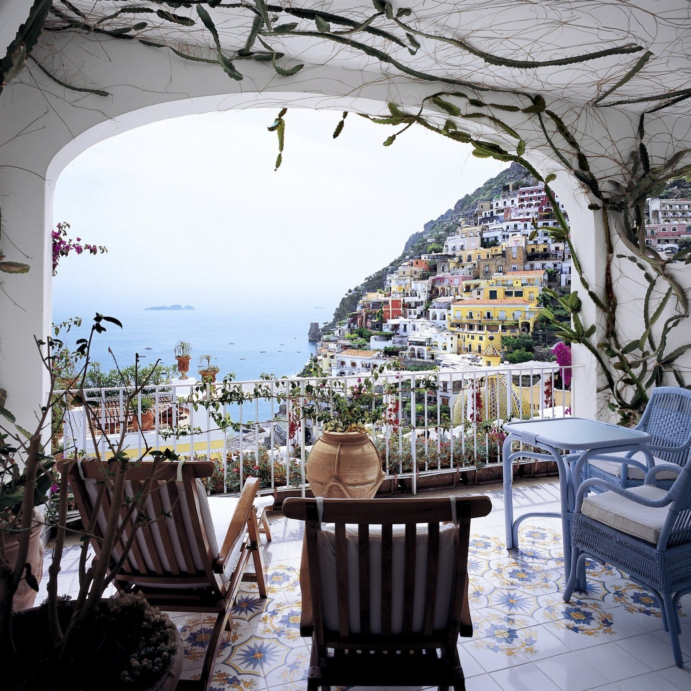 View of Positano from Le Sirenuse