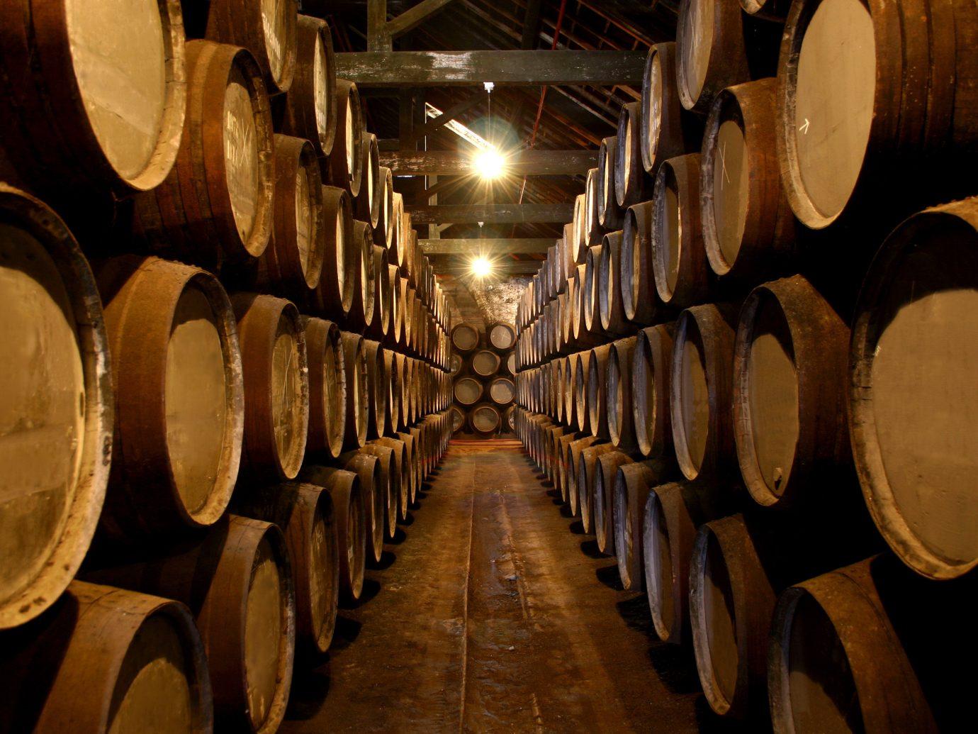 Food + Drink vessel basement barrel man made object wine wood Winery