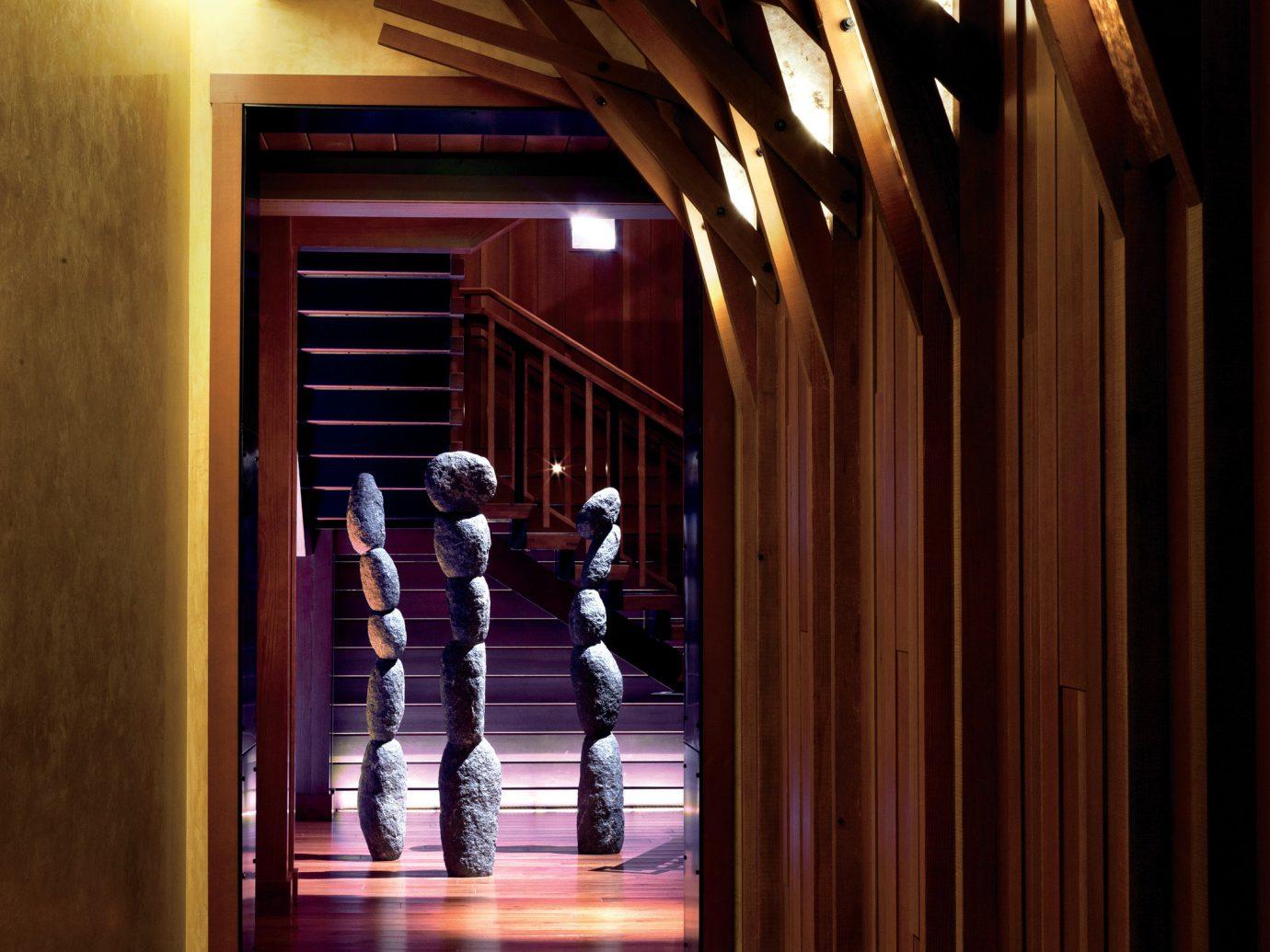 Health + Wellness Spa Retreats Trip Ideas floor indoor light Architecture interior design lighting hall wood Lobby