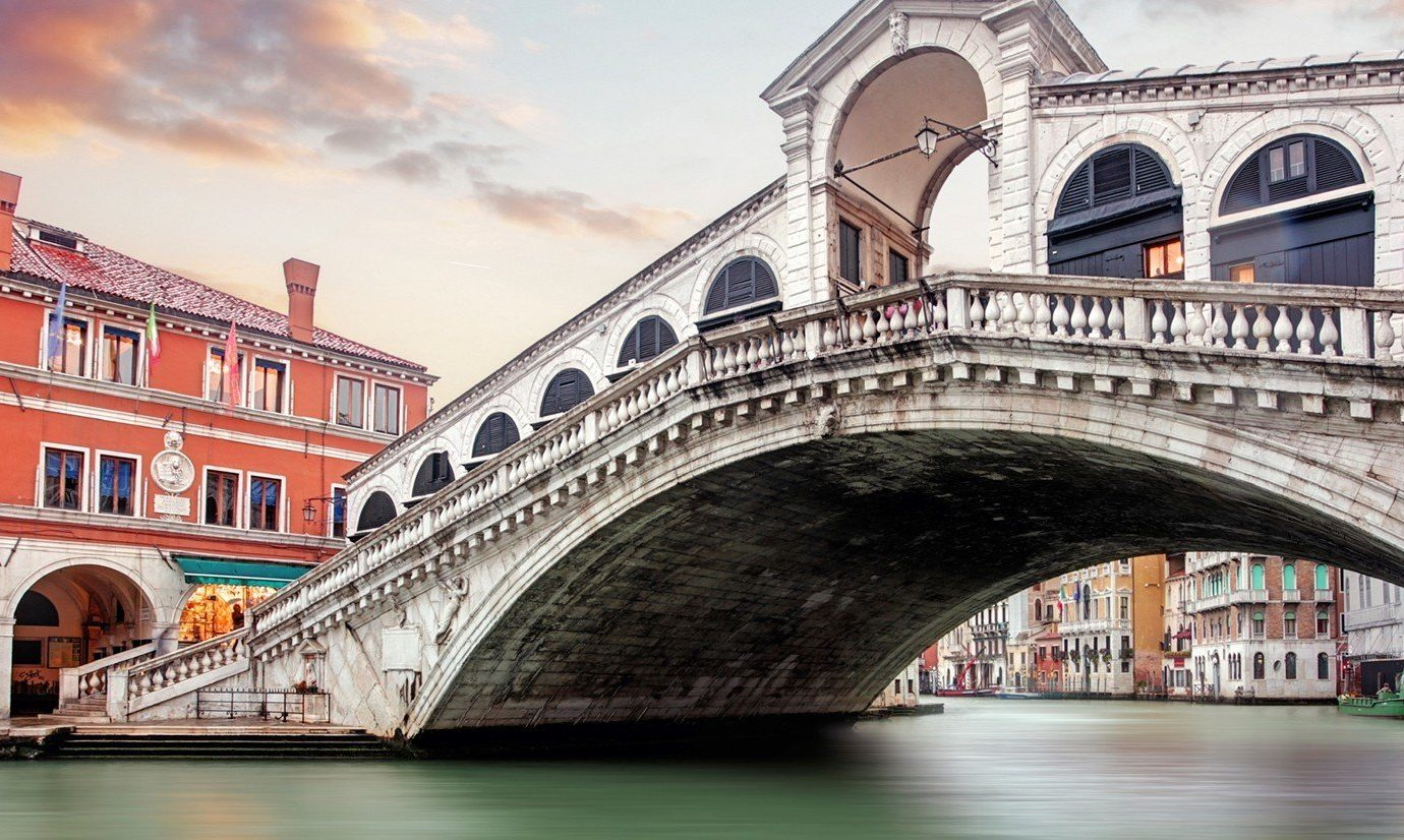Trip Ideas building outdoor bridge landmark Canal arch waterway Architecture traveling tourism cityscape gondola vehicle passing old stone