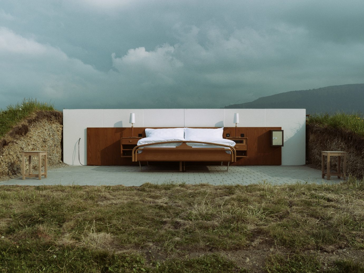Hotels Offbeat grass sky outdoor Architecture house home landscape facade cloudy clouds