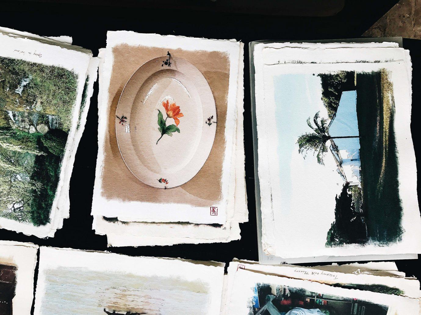 Beach Romantic Getaways south america Trip Ideas Uruguay dish sushi food art painting paint artwork