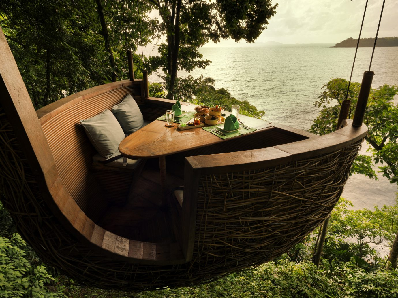 Hanging table at Soneva Kiri, Koh Kut, Thailand