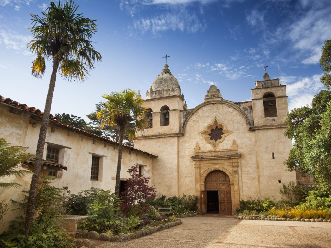 Trip Ideas outdoor tree sky historic site building stone house old estate place of worship monastery Church spanish missions in california Village ancient history Villa