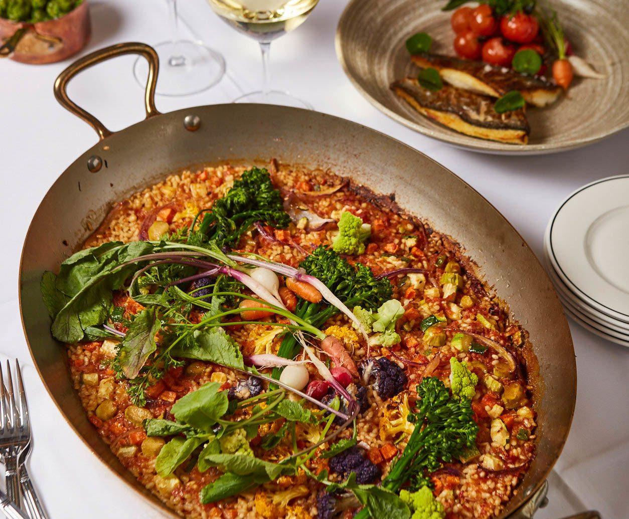 Trip Ideas food plate table dish cuisine vegetable paella meal european food produce italian food different several fresh
