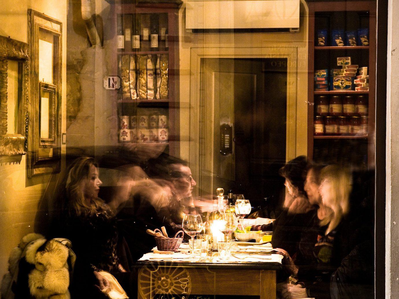 Food + Drink display window building interior design lighting Fireplace Bar tourist attraction restaurant stone