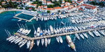 Trip Ideas marina aerial photography dock port bird's eye view stadium cityscape lined several