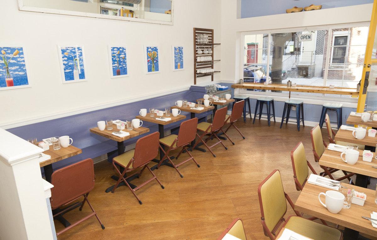 Food + Drink floor indoor table classroom room interior design restaurant cafeteria furniture