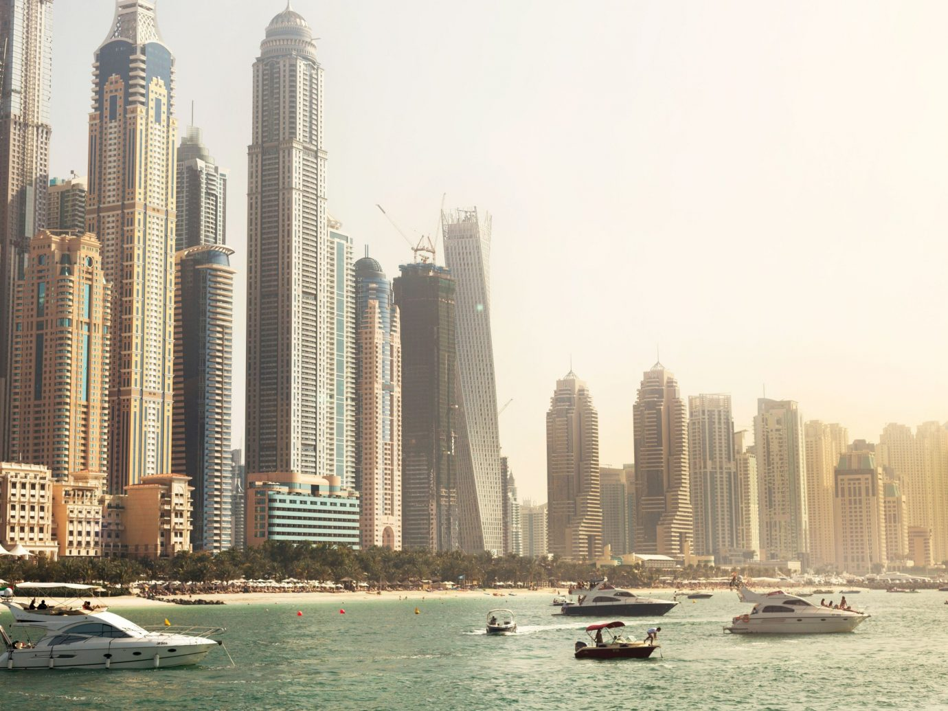 Budget outdoor sky skyscraper Boat landmark skyline City cityscape human settlement tower block metropolis Downtown background tower day several