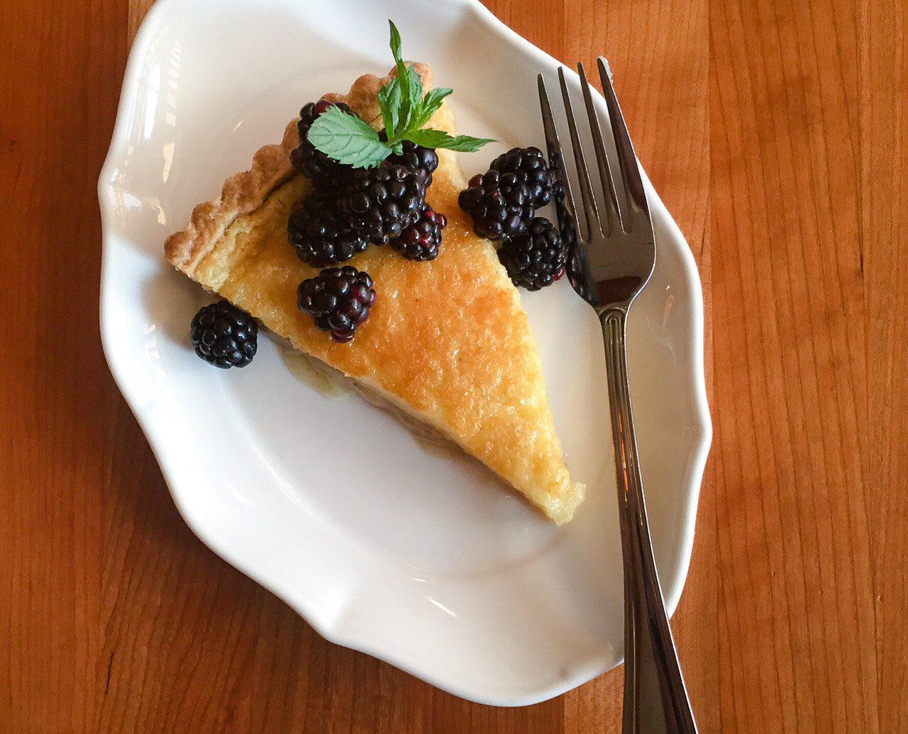 Food + Drink table food plate dessert dish treacle tart breakfast slice