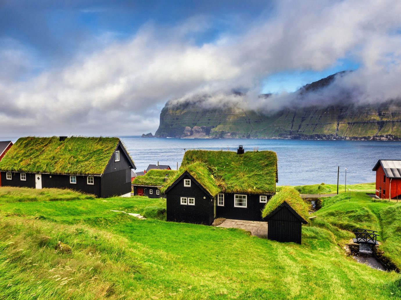 Trip Ideas grass sky outdoor highland Coast field cloud Sea green hill rural area loch old mountain landscape grassy mountain range fjord bay terrain waterway Farm house lush clouds