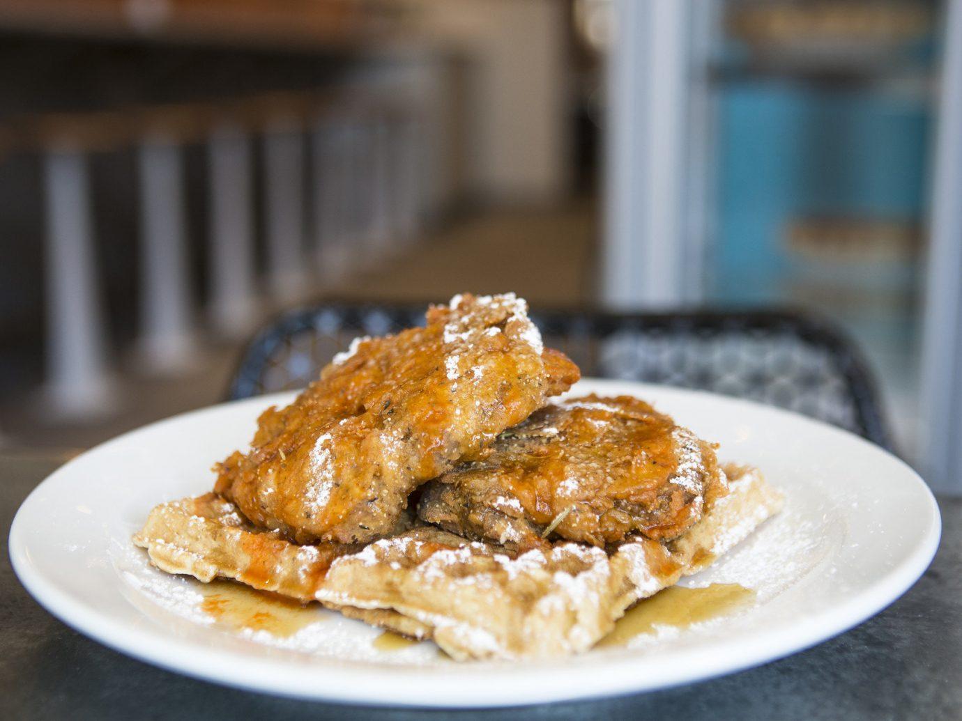 Food + Drink plate table food dish indoor meal breakfast produce fried food dessert cuisine meat eaten