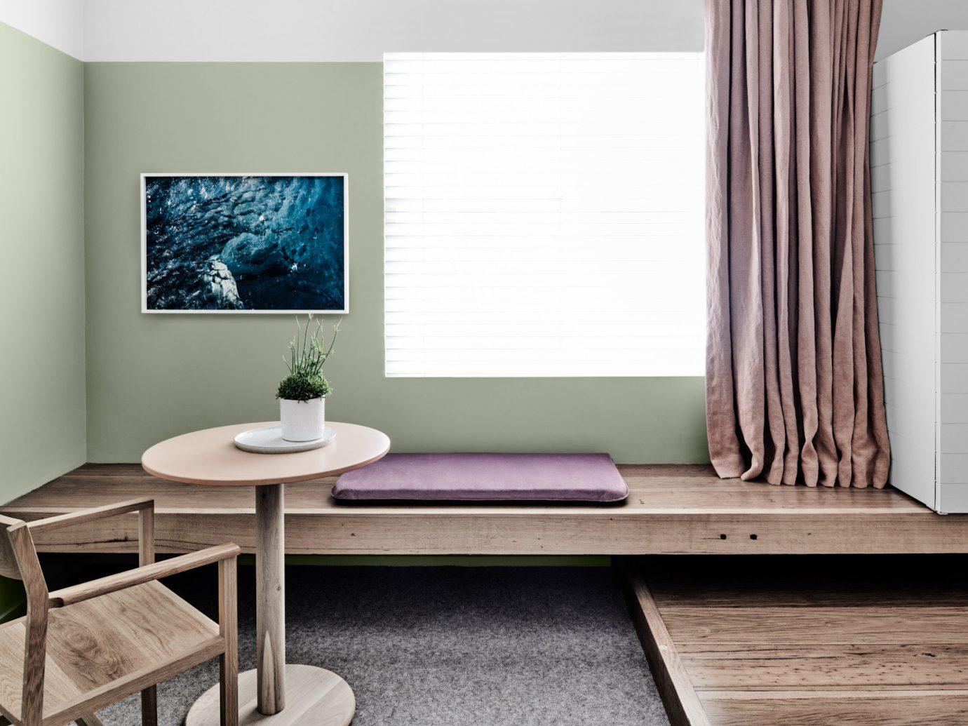 Australia Hotels Melbourne wall floor indoor furniture room interior design table living room product design wood coffee table home interior designer flooring window