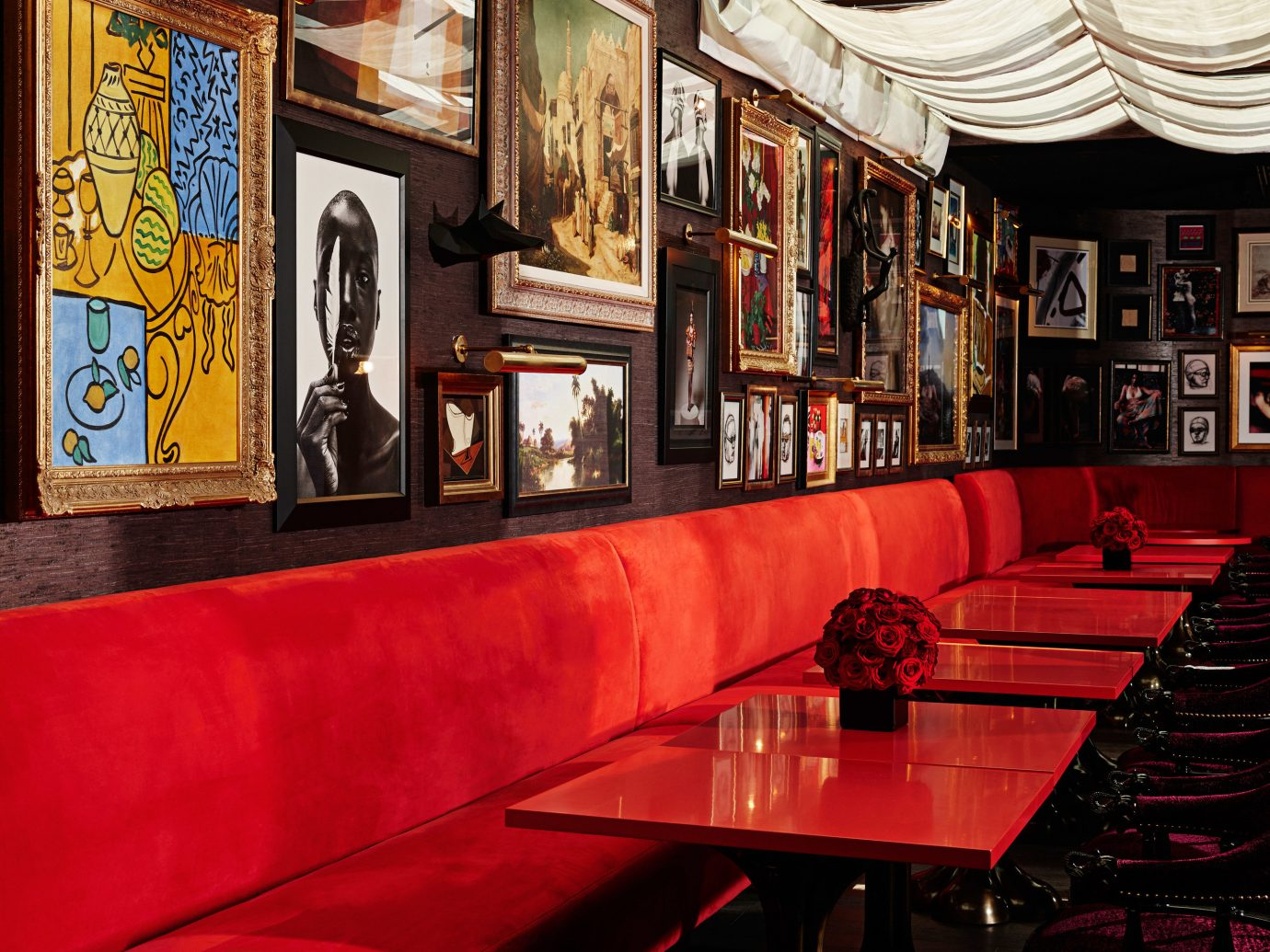 Hotels indoor Bar restaurant red interior design