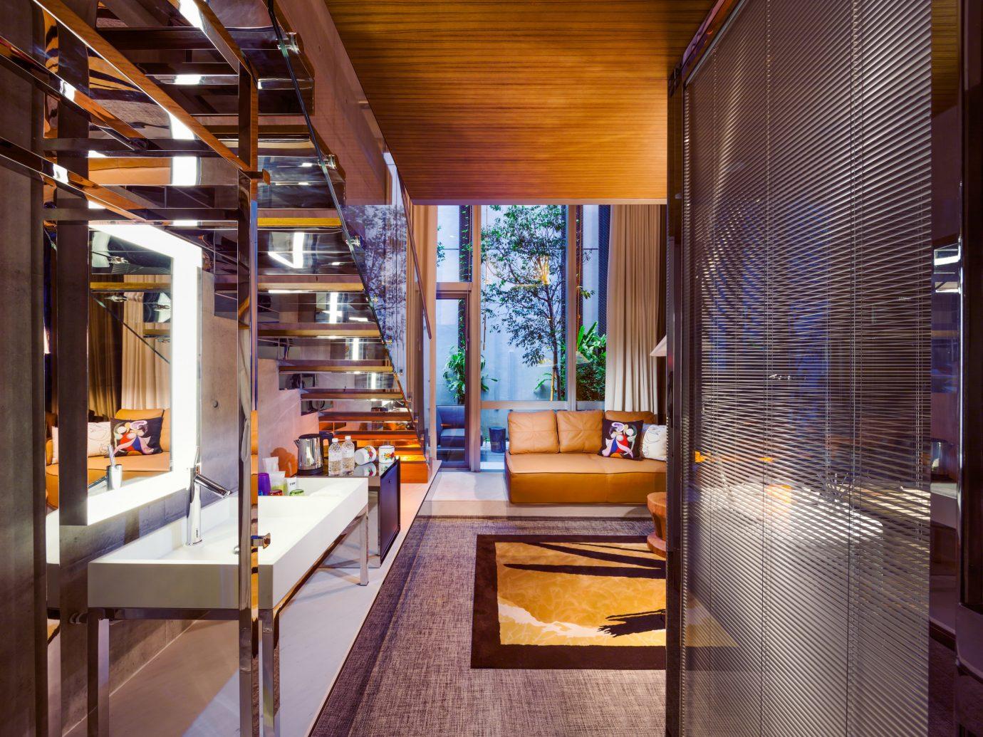 Hotels indoor Lobby room Architecture interior design home estate Design condominium real estate window covering living room