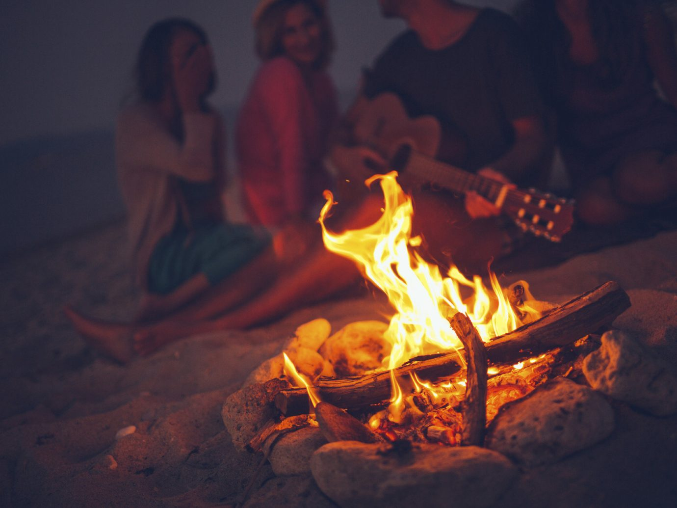 Trip Ideas Nature campfire person fire darkness night flame bonfire
