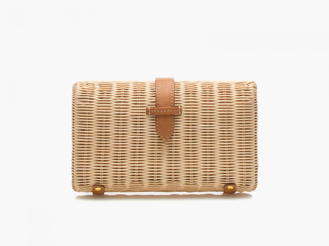 Style + Design basket container fashion accessory handbag beige shape rectangle leather wicker material