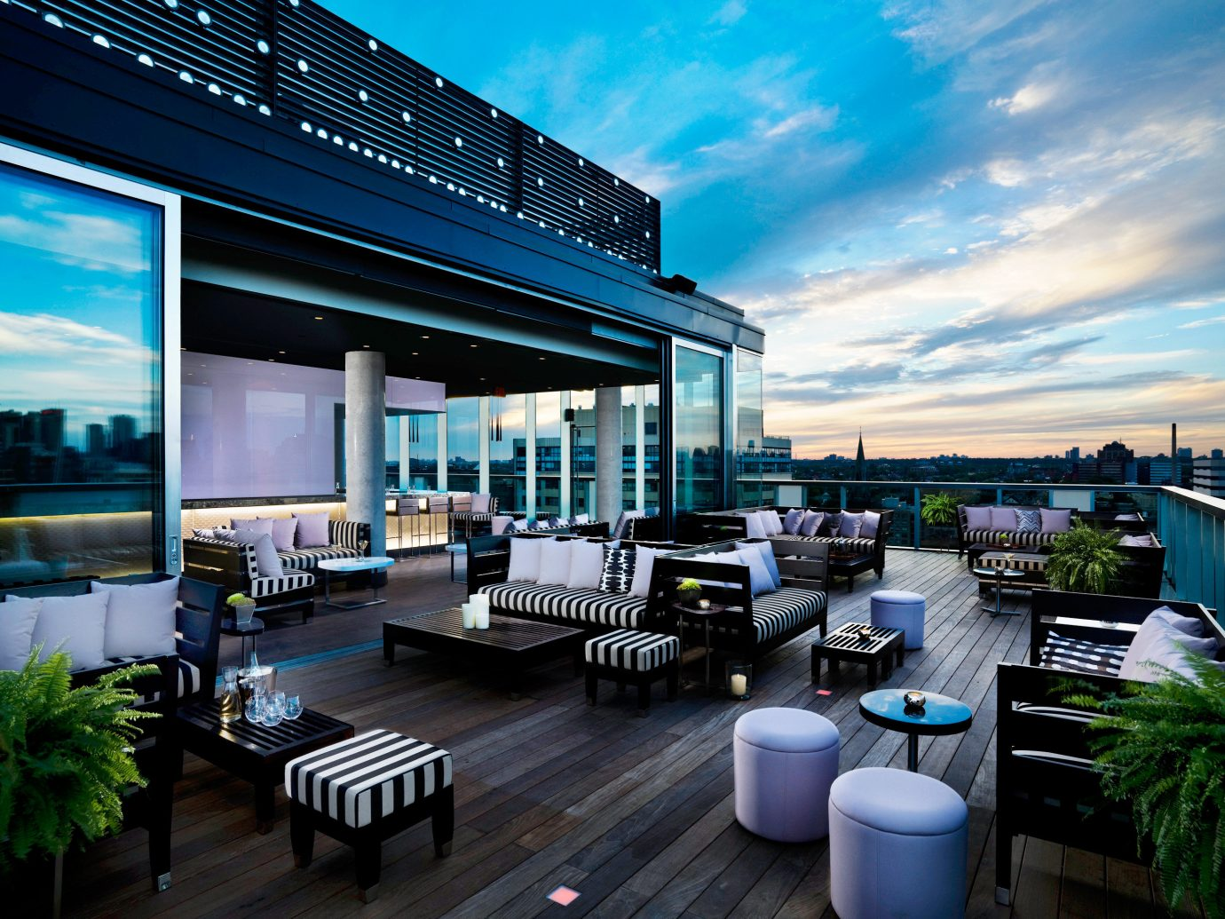 Bar City Hip Jetsetter Guides Lounge Modern Patio Pool Romance Rooftop Scenic views Trip Ideas sky outdoor condominium property Architecture real estate home interior design headquarters estate facade Design professional convention center window covering furniture