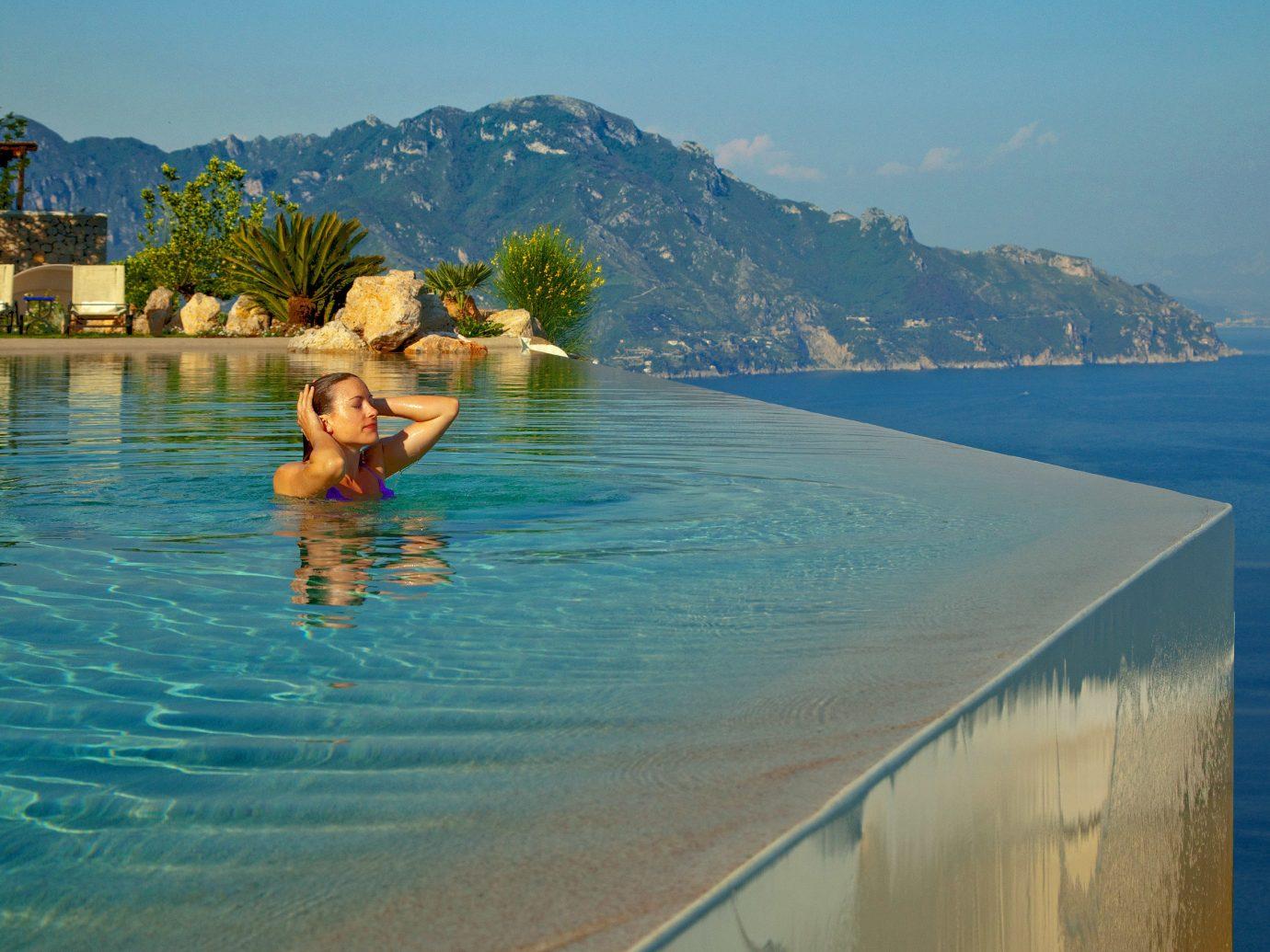 infinity pool at Monastero Santa Rosa, Conca dei Marini