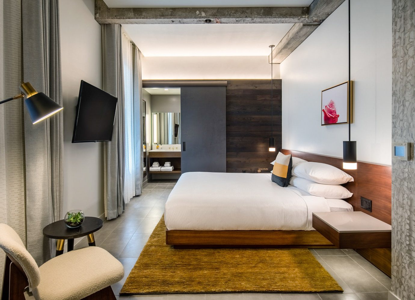 Boutique Hotels Hotels Luxury Travel indoor wall floor room interior design Living ceiling Suite bed frame Bedroom loft interior designer hotel furniture area