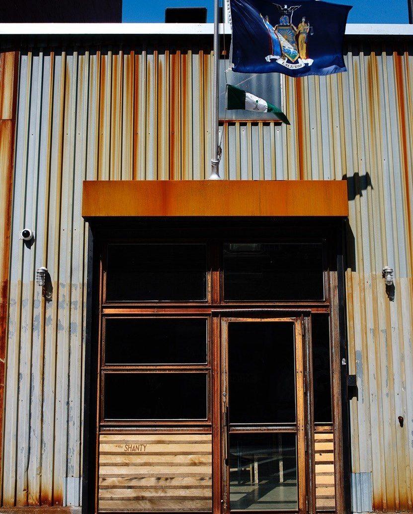 Brooklyn Food + Drink house facade wood building window door shed roof