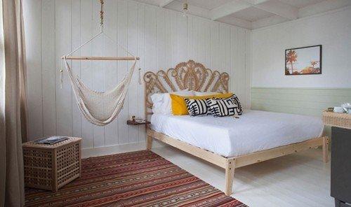 Hotels indoor wall floor room property Bedroom cottage bed Suite interior design real estate apartment furniture estate bed frame